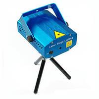 Лазерный голографический 2-х цветной мини проектор с активацией по звуку для небольших кафе, баров, дискотек