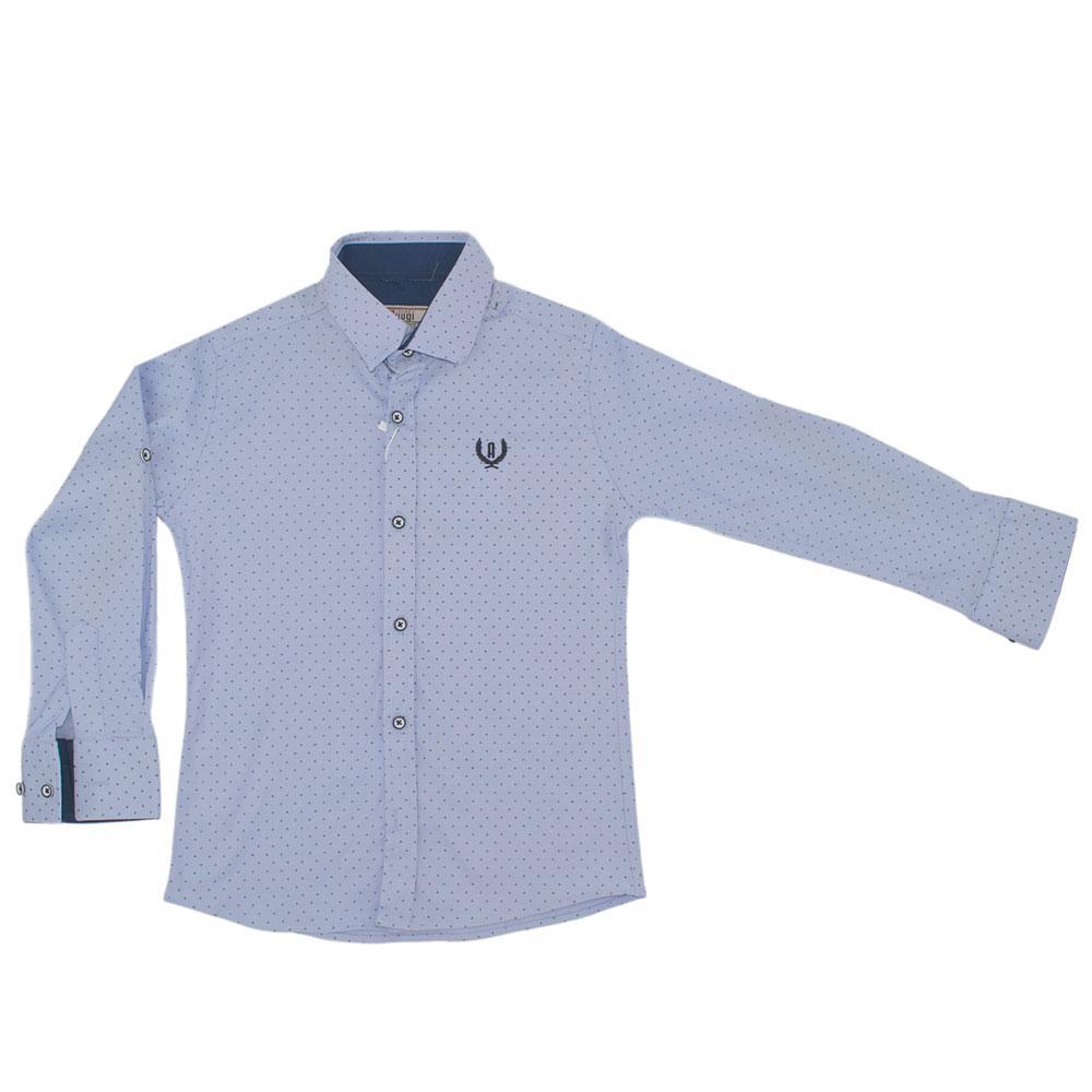 Рубашка для мальчиков A-yugi 152  голубой 980478
