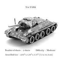Металлический 3d конструктор! Советский Танк Т34!