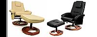 Відпочинкове крісло з масажем + пуф