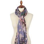 Палантин шерстяной 10755-13, павлопосадский шарф-палантин шерстяной (разреженная шерсть) с осыпкой, фото 2