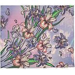Палантин шерстяной 10755-13, павлопосадский шарф-палантин шерстяной (разреженная шерсть) с осыпкой, фото 3