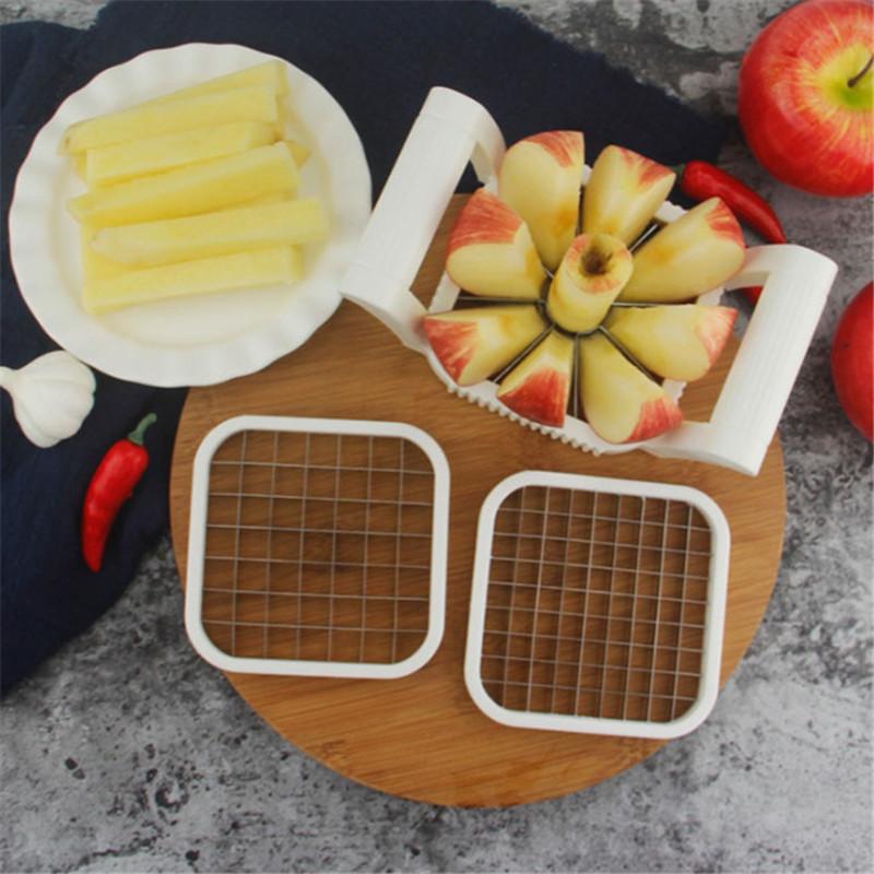 Нож для нарезки картофеля фри и яблок 3 в 1
