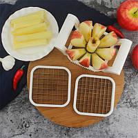 Нож для нарезки картофеля фри и яблок 3 в 1, фото 1