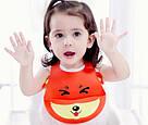 Детский слюнявчик нагрудник силиконовый с карманом (красная лиса), фото 3