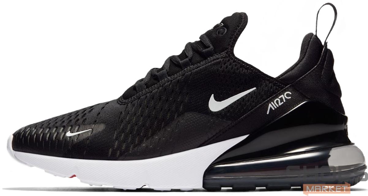 Женские кроссовки Nike Air Max 270 Black White AH8050-002, Найк Аир Макс 270
