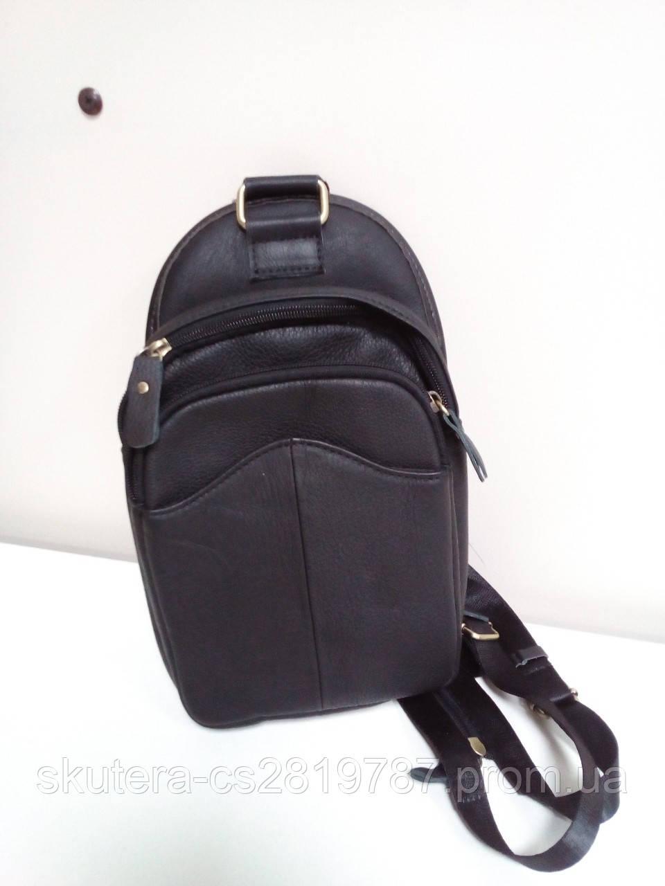 """Мужская кожаная сумка, ранец, рюкзак маленький """"Сан-Диего"""""""