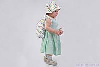 """Дитячий рюкзак в дитячий сад + панама, """"Горошок"""", фото 1"""