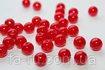 Жемчуг искусственный красный, Ø - 8мм, 500 грамм/уп