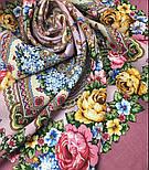 Домашний очаг 1829-2, павлопосадский платок шерстяной  с шелковой бахромой, фото 7