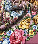 Домашний очаг 1829-2, павлопосадский платок шерстяной  с шелковой бахромой, фото 8