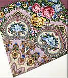 Домашний очаг 1829-2, павлопосадский платок шерстяной  с шелковой бахромой, фото 9