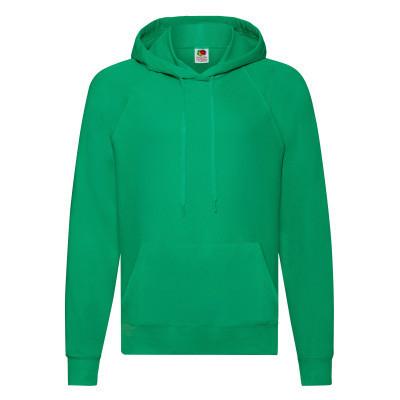 Мужская толстовка с капюшоном весна/осень ярко-зеленая - S, XL, 2XL