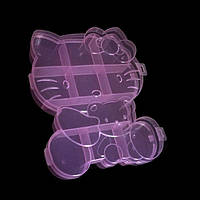 Органайзер на 10 ячеек кошечка, розовый, фото 1