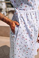 Платье мини со цветочным принтом, фото 4