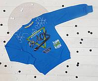 Джемпер детский для мальчика 3-4, 4-5, 5-6, 6-7, 8-9 лет (5 ед в уп), двухнитка синий 5489612730544