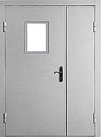 Двери противопожарные El-30/60 огнестойкие 1260*2050 со стеклом
