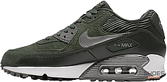 Женские кроссовки Nike Air Max 90 LTR Carbon Green/Metallic Pewter/Sail 768887-301, Найк Аир Макс 90