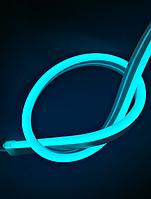 Светодиодный неон 12V 9Вт 120LED/м, голубой IP65