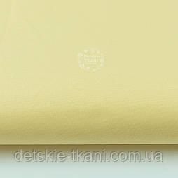 Однотонная польская бязь светло-жёлтая (холодный оттенок) №2362а.