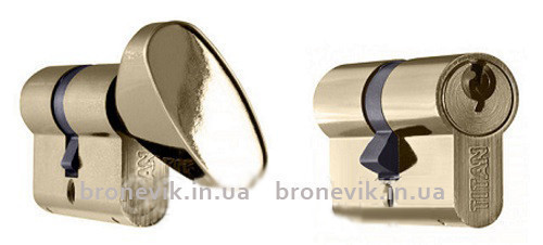 Цилиндр Titan K1 А 100 (45Cх55) никель ключ/поворотник