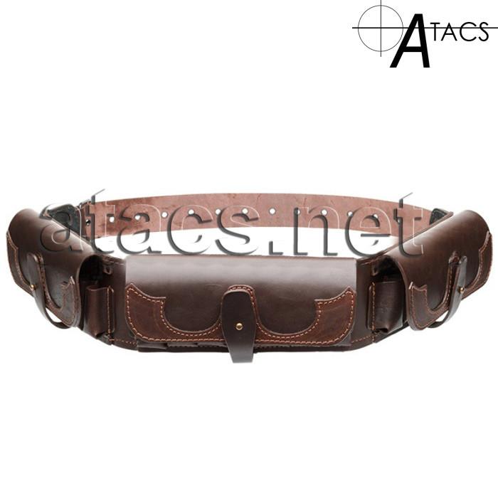 Патронташ однорядний закритий(12 калібр, 21 осередок), коричневий