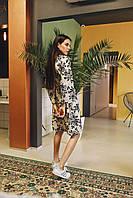 Женское платье Кимоно с принтом - в расцветки, фото 2