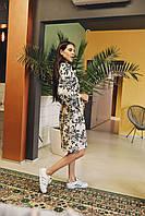 Женское платье Кимоно с принтом - в расцветки, фото 3