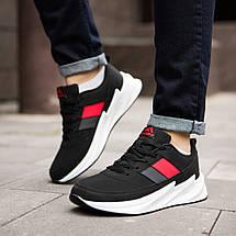 Спортивні кросівки чорні на білій підошві, фото 2