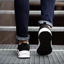 Спортивні кросівки чорні на білій підошві, фото 3