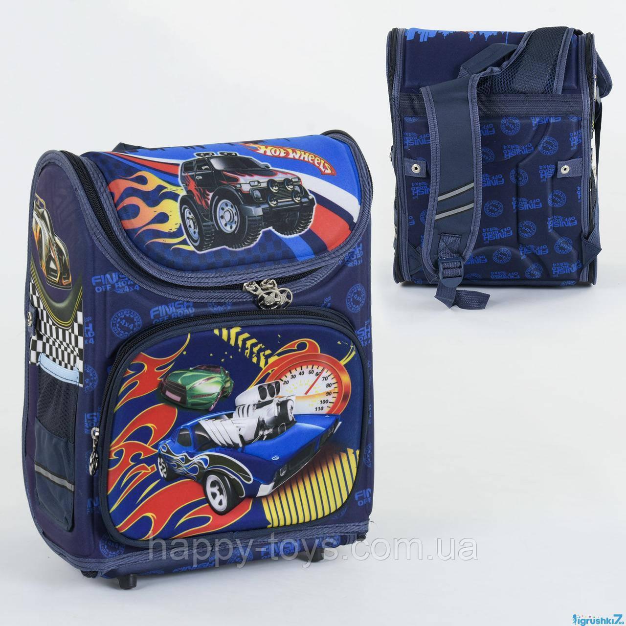 Рюкзак школьный каркасный 1 отделение, 3 кармана, спинка ортопедическая, 3D изображение С 36172