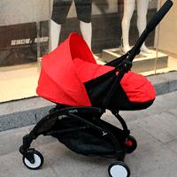 Прогулочная коляска YOYA 175А+ 2в1, с люлькой, Красная