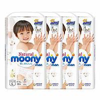 Трусики Moony Natural L 38 шт. 9-14 кг для внутреннего рынка Японии; Количество - 4 шт.