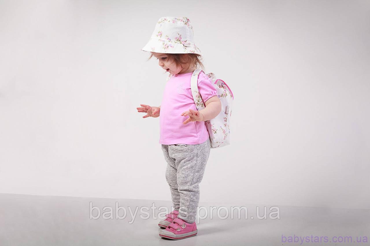 """Детский рюкзак для малышей + панама, """"Цветы"""""""
