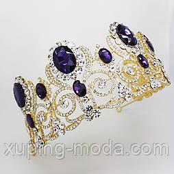 Шикарная свадебная корона тиара, с кристаллами, недорогая бижутерия