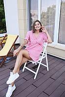 """Женское платье мини """"Одуванчик"""" - белое, розовое, оранж, фото 3"""