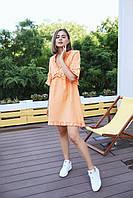 """Женское платье мини """"Одуванчик"""" - белое, розовое, оранж, фото 5"""