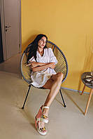 """Женское платье мини """"Одуванчик"""" - белое, розовое, оранж, фото 8"""