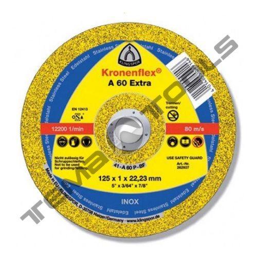 Круг отрезной по металлу Klingspor A 60 Extra 125x1x22,23 GER
