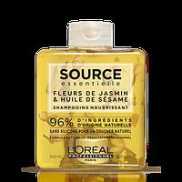 Шампунь питательный для сухих волос цветы жасмина и масло кунжута L'Oreal Source Essentielle 300мл