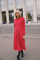 """Женское кашемировое платье """"Кенгуру"""" - красное, фото 2"""