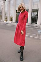 """Женское кашемировое платье """"Кенгуру"""" - красное, фото 3"""