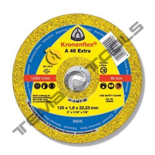 Круг отрезной по металлу Klingspor A 46 Extra 125x1,6x22,23 GER