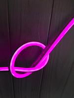 Светодиодный неон 12V 9Вт 120LED/м, розовый IP65 узкий, фото 1