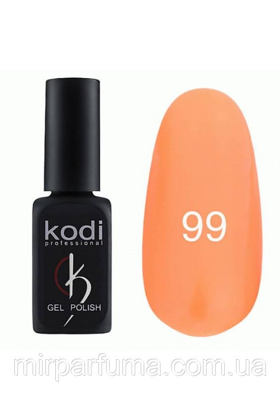 Гель лак KODI №099 оранжевый 12 мл