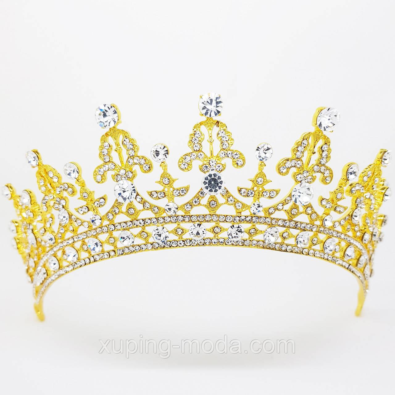 Шикарная диадема, корона. Усыпанная стразами, вечерня бижутерия