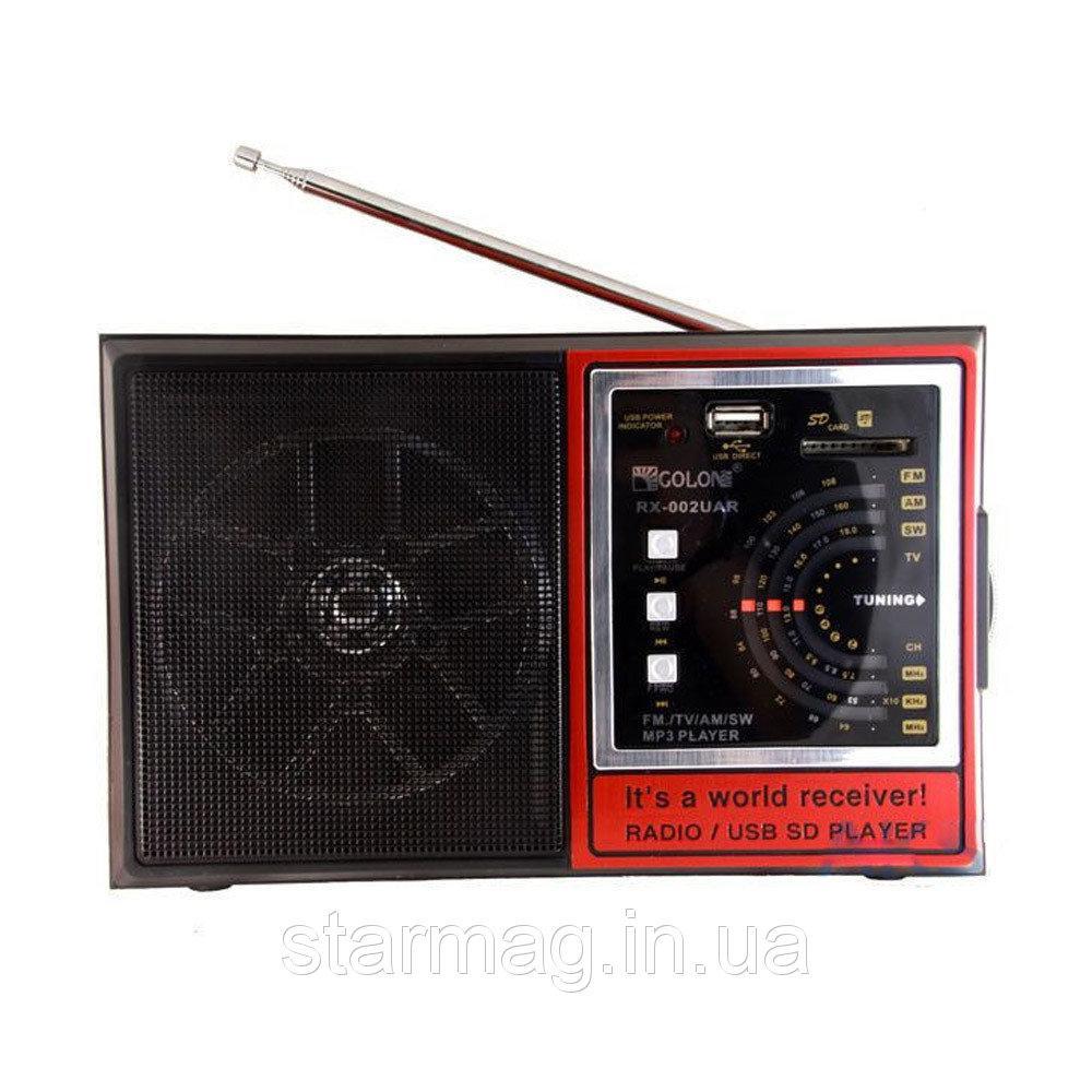 Радиоприемник GOLON RX-002 UAR USB+SD, радио для дома и дачи
