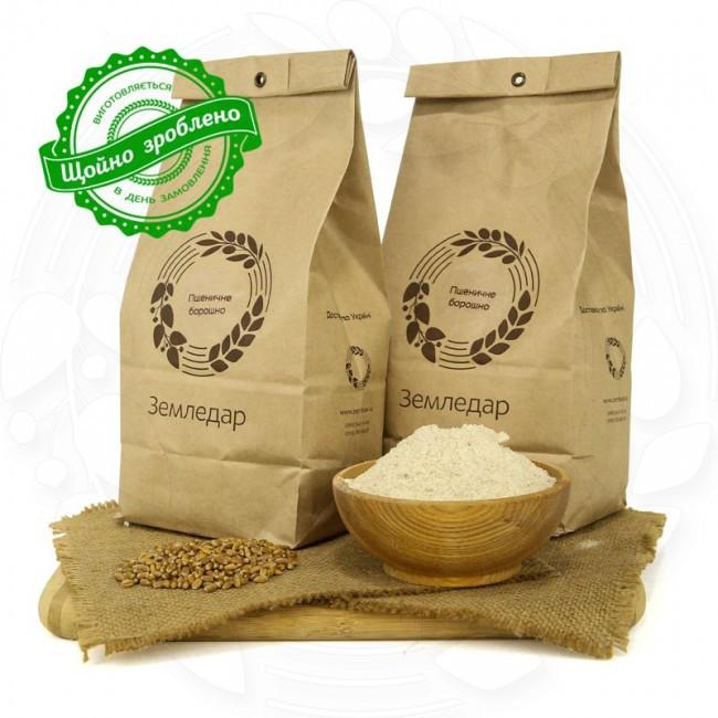 Пшеничная цельнозерновая жерновая мука в пакете 1