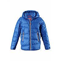 Зимние детские пуховые куртки-жилеты Reima Martti, синяя, 140 р.