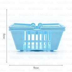Набор пластиковых мини корзинок 4шт ER-103, фото 3
